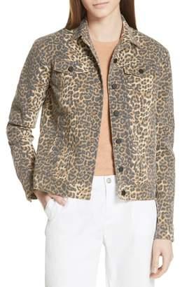 ATM Anthony Thomas Melillo Leopard Print Denim Jacket