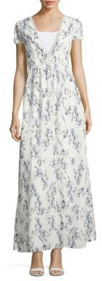Floral-Print Tiered Dress $120 thestylecure.com