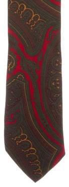 Etro Silk Paisley Print Tie