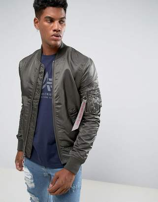 Alpha Industries Ma-1 Vf Reverse 2 Bomber Jacket In Rep Grey/Camo