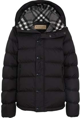 Burberry check padded coat