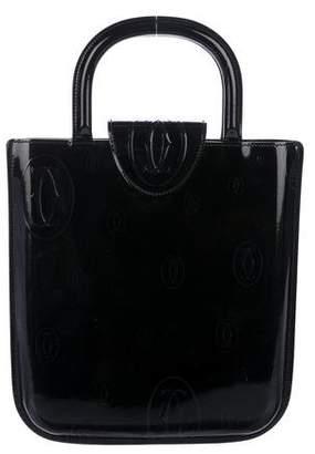 Cartier Patent Leather Logo Handle Bag