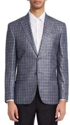Saks Fifth Avenue COLLECTION Plaid Bamboo Sportscoat