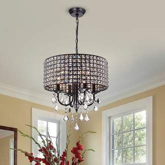 Albano Willa Arlo Interiors 4-Light Crystal Chandelier