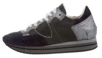 Philippe Model Metallic Low-Top Sneakers