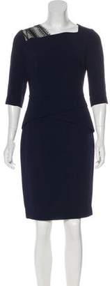 Roland Mouret Short Sleeve Knee-Length Dress