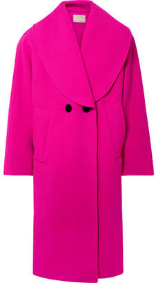 Marc Jacobs Oversized Double-breasted Wool-blend Coat - Fuchsia