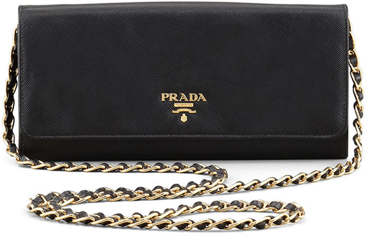 Prada Saffiano Wallet-on-Chain
