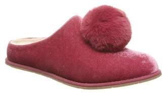 BearPaw Tango Faux Fur Pompom Genuine Sheepskin Lined Slipper
