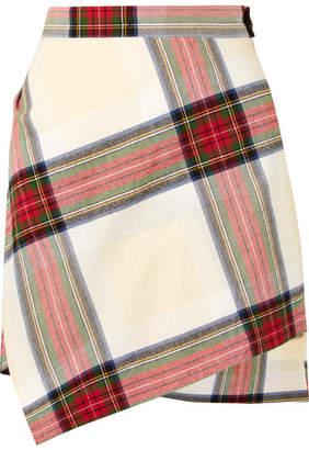 Vivienne Westwood - Asymmetric Tartan Cotton Mini Skirt - Red