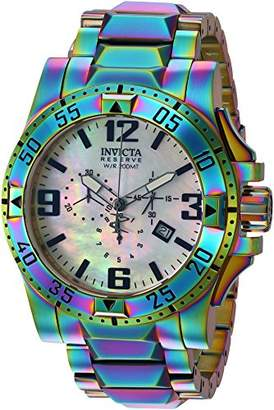 Invicta Men's 'Reserve' Quartz Stainless-Steel-Plated Casual watchMulti Color (Model: 25362)