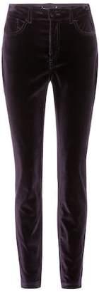 Dolce & Gabbana Velvet mid-rise trousers