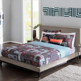 Natori Josie By Josie by 5-piece Woodblock Patchwork Reversible Quilt Set