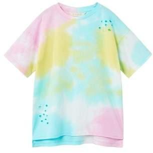 MANGO Ripped tie-dye t-shirt
