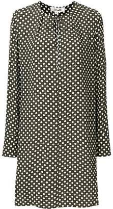 Diane von Furstenberg long-sleeved patterned smock dress
