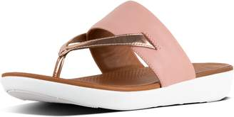 FitFlop Delta Mirror Leather Toe-Thongs