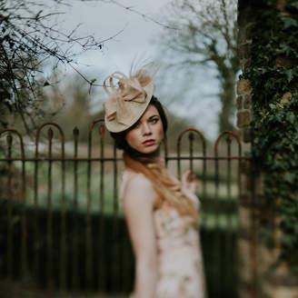 1a99dfe3d56fa Roll Brim Hat Shopstyle Uk. Vintage Inspired Veiled Fascinator