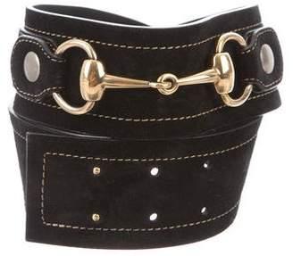 Gucci Suede Horsebit Belt