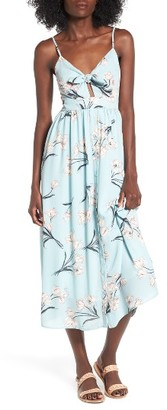 Women's Soprano Tie Front Midi Dress $55 thestylecure.com