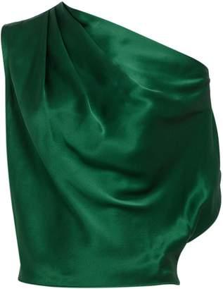 Michelle Mason Emerald Off Shoulder Blouse