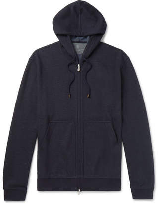 Brunello Cucinelli Cashmere-Blend Hoodie - Men - Navy