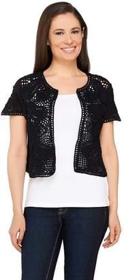 Liz Claiborne New York Hand Crochet and Sweater Knit Shrug