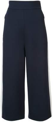 Tibi side stripes wide leg culottes