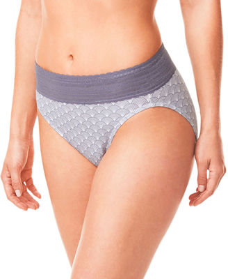 WARNERS Warner's No Pinches Hi-Cut Lace Brief Cotton - RT2091P $11.50 thestylecure.com