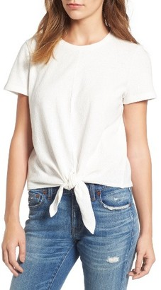 Women's Madewell Modern Tie Front Tee $39.50 thestylecure.com