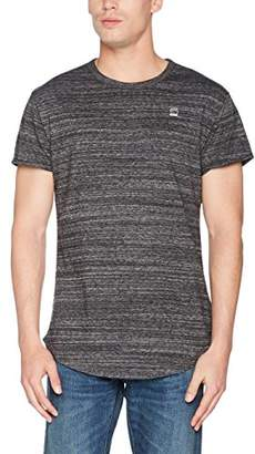 G Star Men's Vontoni Crew Neck Short Sleeve Scalloped High Low T-Shirt