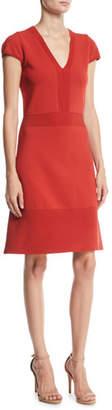 MICHAEL Michael Kors Ottoman Flare-Hem Dress