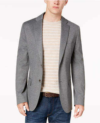 Ryan Seacrest Distinction Men Modern-Fit Gray Knit Sport Coat