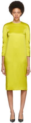 Haider Ackermann Yellow Kuiper Three-Quarter Sleeve Dress
