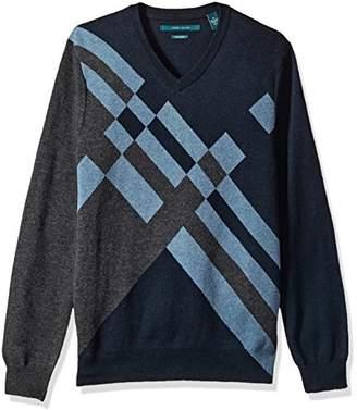 Perry Ellis Men's Argyle V-Neck Sweater