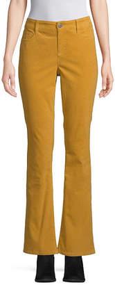 ST. JOHN'S BAY Womens Mid Rise Bootcut Corduroy Pant