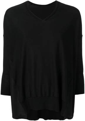 Maison Flaneur draped fitted sweater