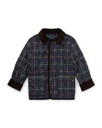 Ralph Lauren Kempton Quilted Plaid Jacket, Size 5-7