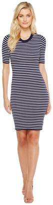 MICHAEL Michael Kors Short Sleeve Striped Tee Dress Women's Dress