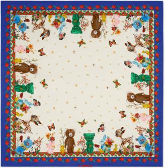 Gucci Animals print cotton baby blanket
