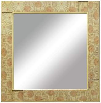 PTM Images Natural Wood Mirror