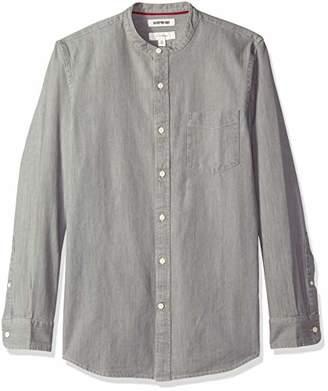 Goodthreads Men's Slim-Fit Long-Sleeve Band-Collar Denim Shirt