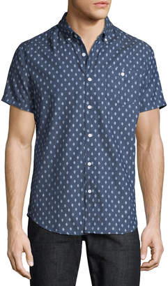 Sovereign Code Men's Town Short-Sleeve Chambray Sport Shirt