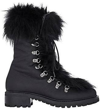Barneys New York Women's Fur-Trimmed M6 Boots - Black