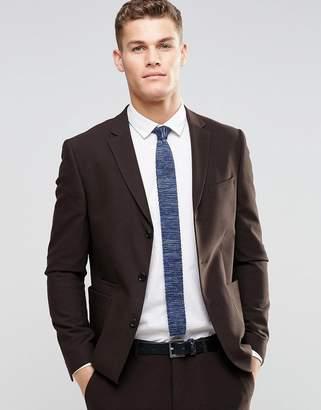 Asos Design Skinny Suit Jacket In Brown