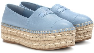 Prada Platform leather espadrilles