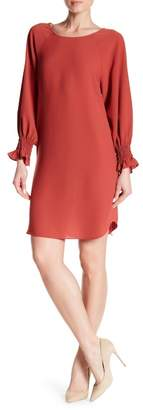 Nine West Long Sleeve Crepe Shift Dress