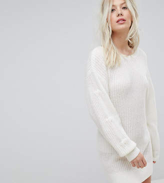 Miss Selfridge Exclusive Tiered Sleeve Sweater Dress