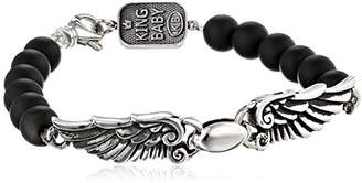 King Baby Studio 8mm Onyx Bead Wingspan Bracelet