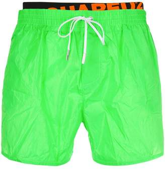 DSQUARED2 logo band swim shorts