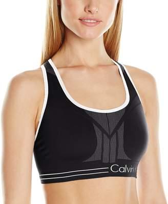Calvin Klein Women's Medium Impact Reversible Bra Top